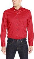 Cutter & Buck Men's Long-Sleeve Bergen Stain Resistant Twill Shirt