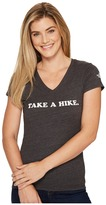 The North Face Short Sleeve Take a Hike V-Neck Tri-Blend Tee Women's T Shirt
