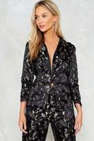 Nasty Gal Blossom of Your Love Satin Jacket