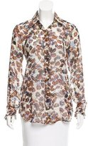 Derek Lam Printed Silk Top