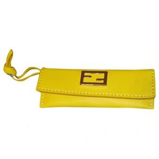 Fendi Yellow Leather Bag charms