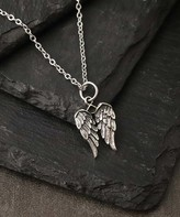 Kurt Geiger Silver Silver Women's Necklaces - Sterling Silver Double Wings Pendant Necklace