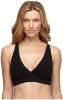 Yummie by Heather Thomson Mallory Wire-Free Racer Back Bra - Black-S/M