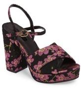 Topshop Women's 'Leona' Print Platform Sandal