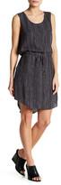Eileen Fisher Stripe Silk Drawstring Dress (Petite)
