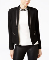 XOXO Juniors' Zipper-Trim Jacket