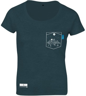 Anchor & Crew Steel Blue Horizon Print Organic Cotton T-Shirt (Womens)