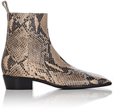 Balenciaga Women's Python-Stamped Leather Ankle Boots