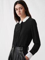 Maje Polka dot shirt with contrasting collar