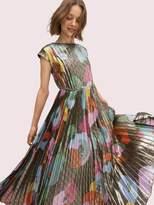 Kate Spade floral collage shimmer dress