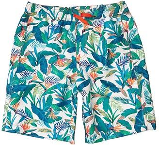 Hatley Tropical Paradise Swim Trunks (Toddler/Little Kids/Big Kids) (White) Boy's Swimwear