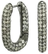 Selim Mouzannar Icy Grey Diamond Hoop Earrings