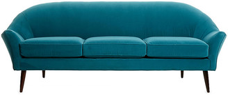 One Kings Lane Blair Modern Sofa - Peacock Velvet - frame, espresso; upholstery, peacock