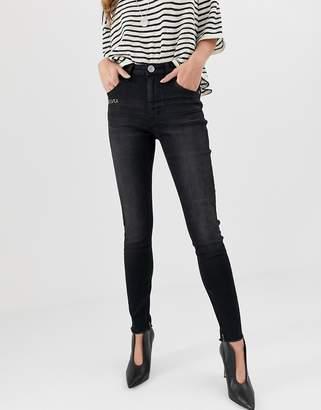 One Teaspoon Freebird high rise skinny jeans-Black