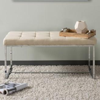 Orren Ellis Montclare Modern Upholstered Bench Upholstery: Beige