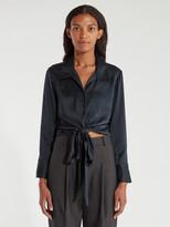 Billie The Label Bianca Tie Silk Top