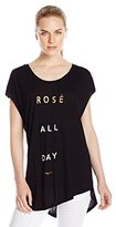 Betsey Johnson Women's Rose All Day Viscose Wedge Tee
