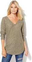 New York & Co. V-Neck Shirttail Dolman Sweater