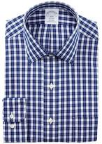 Brooks Check Trim Fit Dress Shirt