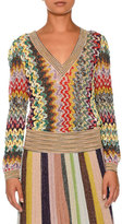 Missoni Banded-Trim V-Neck Pullover Sweater, Multi
