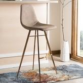 "Bronx Saddle Counter & Bar Stool Ivy Color: Brown, Seat Height: Bar Stool (29"" Seat Height)"