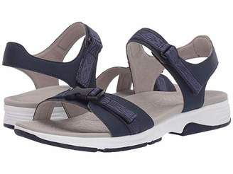 Dansko Angie (Navy Microbuck) Women's Sandals