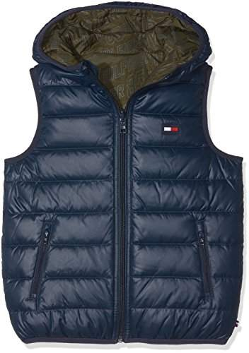 Tommy Hilfiger Boy's Thkb Rev Down Vest Sports Gilet,(Manufacturer Size: 8)