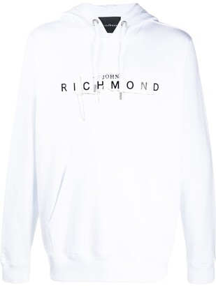 John Richmond Logo-Print Long-Sleeved Hoodie