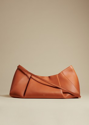 KHAITE The Large Jeanne Crossbody Bag in Cognac Leather