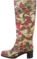 Emilio Pucci Abstract Rain Boots