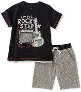 Kids Headquarters 2-Pc. Cotton Little Rock Star T-Shirt & Shorts Set, Baby Boys (0-24 months)