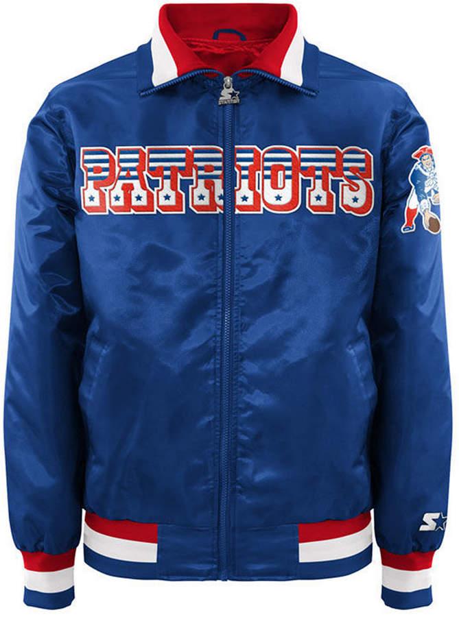 59644421 G-iii Sports Men New England Patriots Starter Captain Ii Satin Jacket