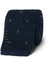 Boglioli - 6cm Embroidered Knitted Silk Tie