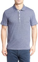 Billy Reid 'Pensacola' Mini Stripe Trim Fit Jersey Polo