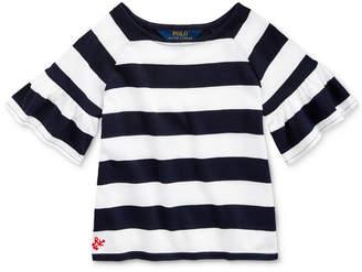 Polo Ralph Lauren Toddler Girls Ruffled Cotton Jersey Top