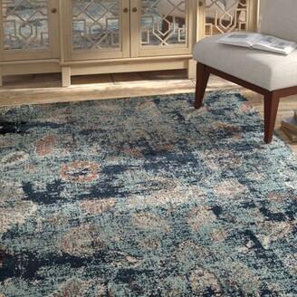 "Blue Area Randolph Tibetan Rug Bloomsbury Market Rug Size: 1'10"" x 3'"
