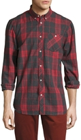 Wesc Men's Plaid Spread Collar Sportshirt