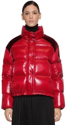 Moncler Chouette Nylon Velvet Laque Down Jacket