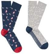 MANGO 2 Pack Space Printed Socks