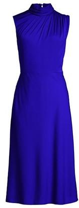Milly Finlee Silk-Stretch A-Line Dress