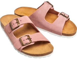 Only Womens Ravi Suede Slip On Sandals Light Pink
