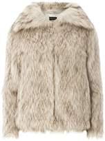 Dorothy Perkins Brown Speckle Faux Fur Coat