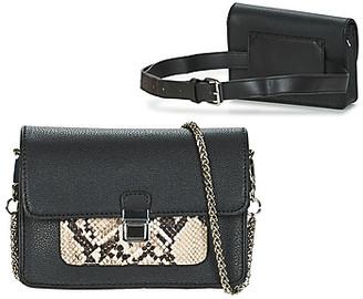 Fuchsia KAYA women's Shoulder Bag in Black