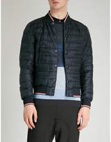 Moncler Striped-trims Quilted Down Jacket