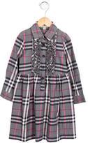 Burberry Girls' Nova Check Ruffle-Trimmed Dress