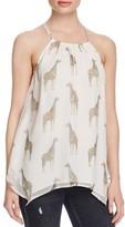 Ella Moss Giraffe Print Silk Tank