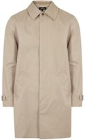 A.p.c. Oxford Sand Cotton Blend Raincoat