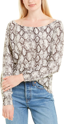 Minnie Rose Off-The-Shoulder Cashmere Sweater