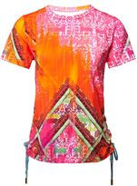 Matthew Williamson Aztec Print Lace-Up T-Shirt