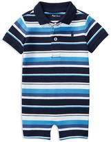 Ralph Lauren Boys' Striped Polo Shortall - Baby
